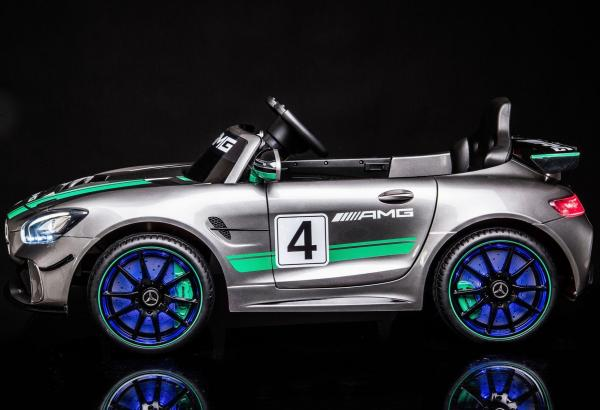Licensed Mercedes-Benz AMG GT4 Sports Edition 12V Electric / Battery Ride On Car - Silver-15563
