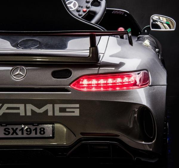 Licensed Mercedes-Benz AMG GT4 Sports Edition 12V Electric / Battery Ride On Car - Silver-15570