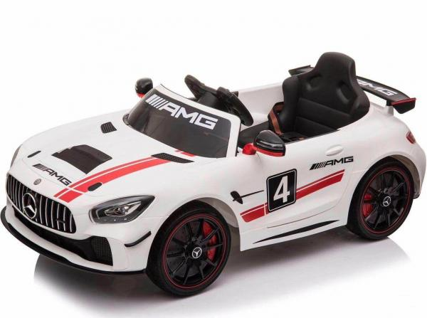 Licensed Mercedes-Benz AMG GT4 Sports Edition 12V Electric / Battery Ride On Car - White-15615