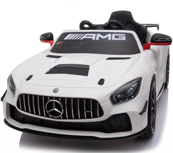 Licensed Mercedes-Benz AMG GT4 Sports Edition 12V Electric / Battery Ride On Car - White-0