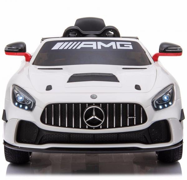 Licensed Mercedes-Benz AMG GT4 Sports Edition 12V Electric / Battery Ride On Car - White-15614