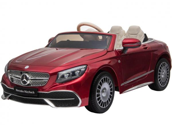 Licensed Mercedes Benz Maybach S 650 Cabriolet 12V Ride On Car - Red-0