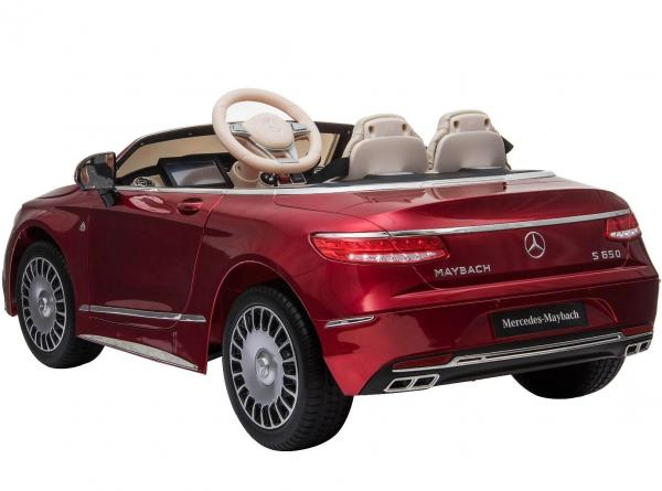 Licensed Mercedes Benz Maybach S 650 Cabriolet 12V Ride On Car - Red-17216