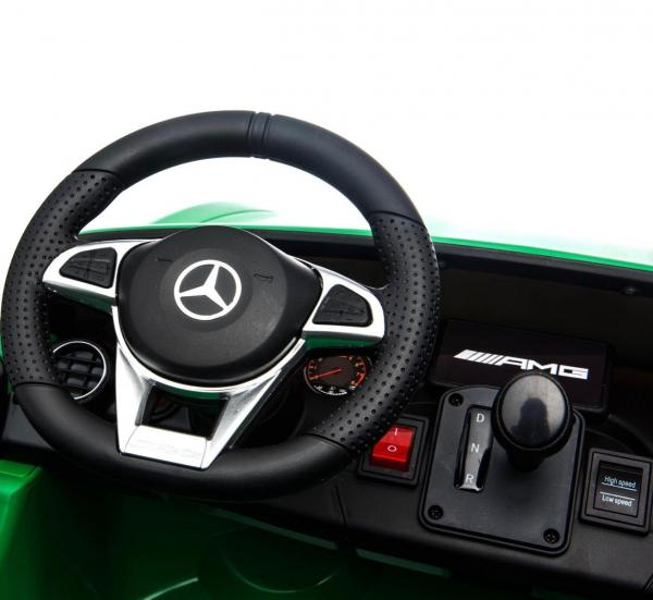 Licensed Mercedes Benz AMG GTR 2 Seater Roadster 24V Ride On Car - Green -15220