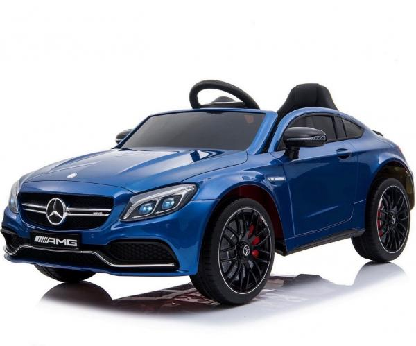 Mercedes-Benz Licensed AMG C63 C-Class 12V Battery Ride On Car - Blue-0