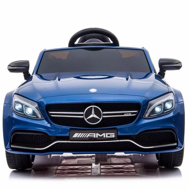 Mercedes-Benz Licensed AMG C63 C-Class 12V Battery Ride On Car - Blue-15203
