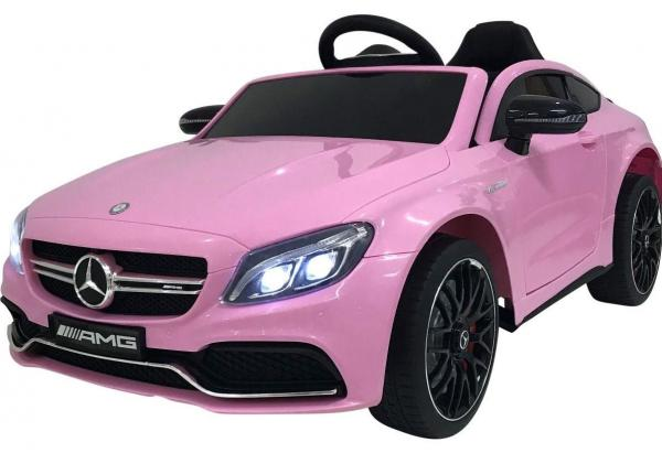 Mercedes-Benz Licensed AMG C63 C-Class 12V Battery Ride On Car - Pink-0