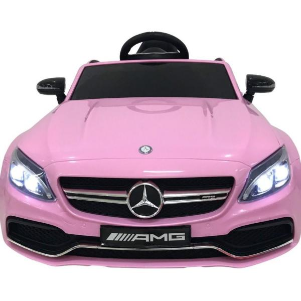 Mercedes-Benz Licensed AMG C63 C-Class 12V Battery Ride On Car - Pink-15184