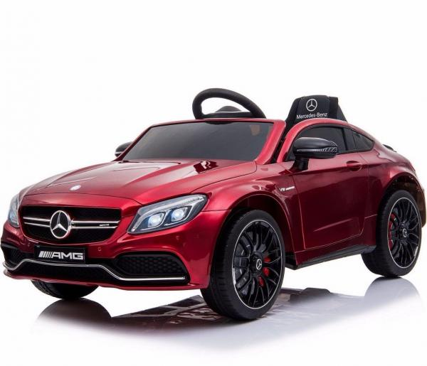 Mercedes-Benz Licensed AMG C63 C-Class 12V Battery Ride On Car - Red-15194
