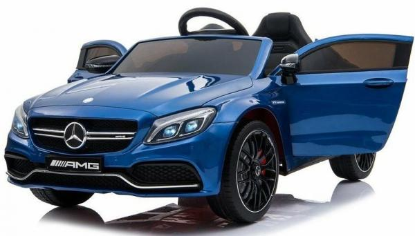 Mercedes-Benz Licensed AMG C63 C-Class 12V Battery Ride On Car - Blue-15216
