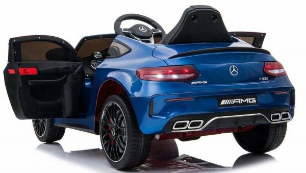 Mercedes-Benz Licensed AMG C63 C-Class 12V Battery Ride On Car - Blue-15217