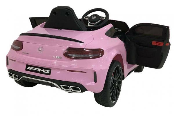 Mercedes-Benz Licensed AMG C63 C-Class 12V Battery Ride On Car - Pink-15207