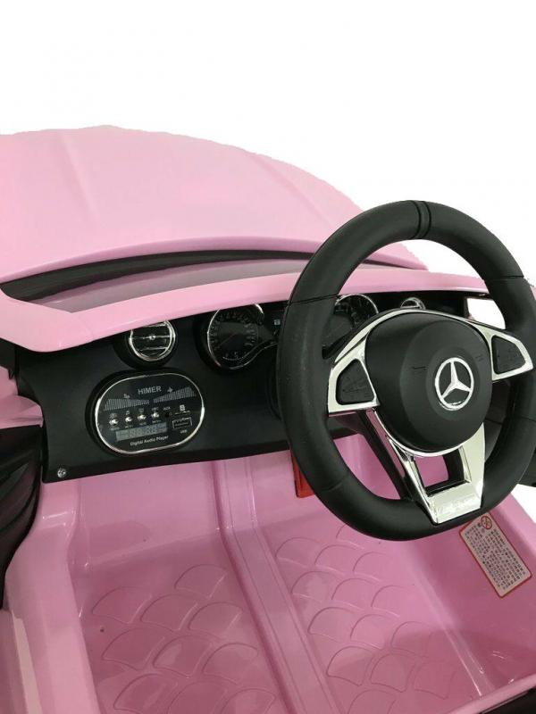 Mercedes-Benz Licensed AMG C63 C-Class 12V Battery Ride On Car - Pink-15206