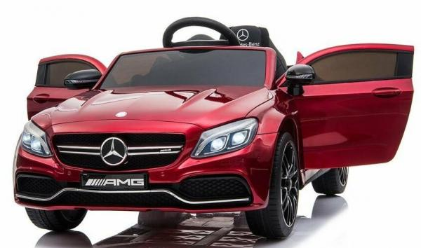 Mercedes-Benz Licensed AMG C63 C-Class 12V Battery Ride On Car - Red-0