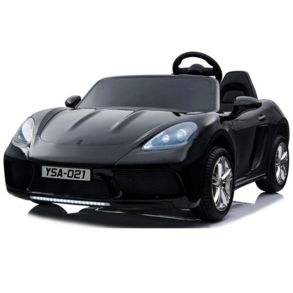 Super Sport Car XL 24V Ride On Car with Twin 180W Brushless Motors - 2 Seater Roadster - Black-0
