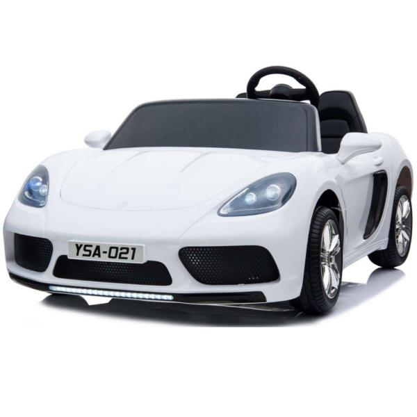 Super Sport Car XL 24V Ride On Car with Twin 180W Brushless Motors - 2 Seater Roadster - White-0