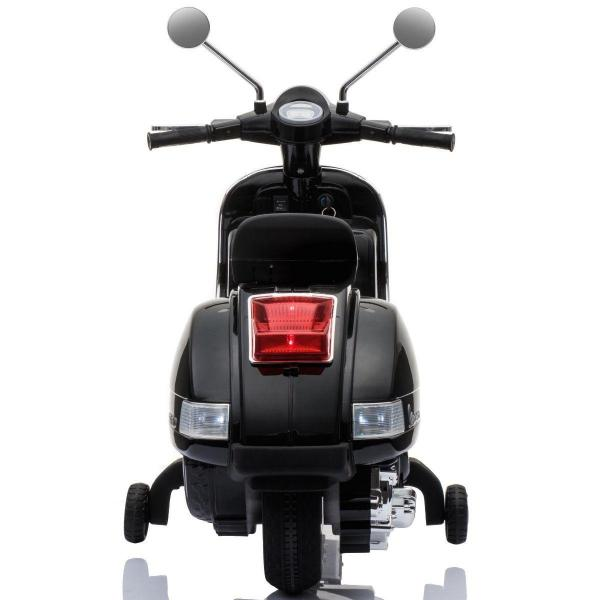 Kids Licensed Vespa Scooter PX150 Ride on Electric Battery Motor Bike 12v - Black-15520