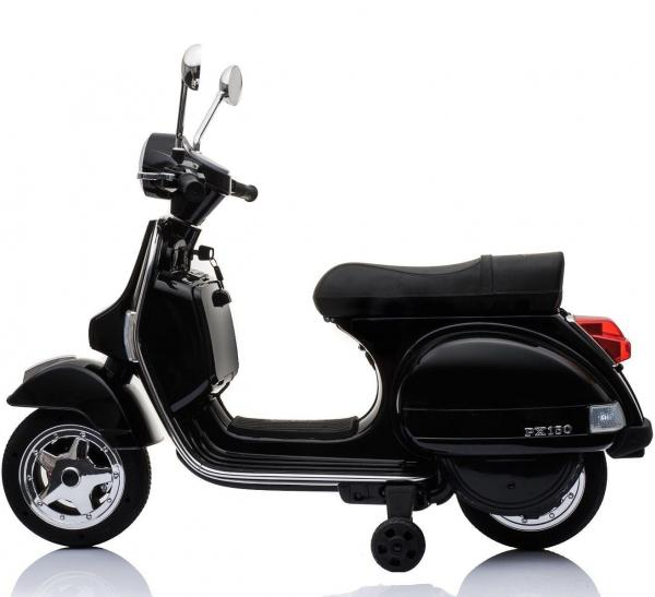 Kids Licensed Vespa Scooter PX150 Ride on Electric Battery Motor Bike 12v - Black-15518