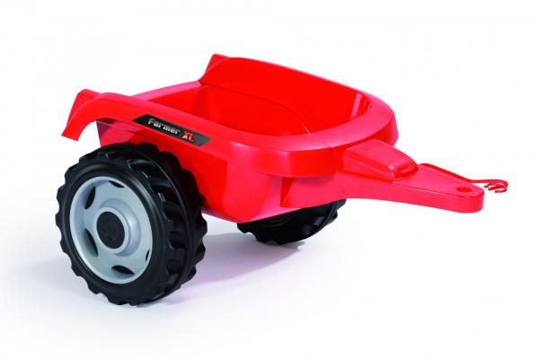 Smoby Childrens Red Farmer XL Pedal Ride On Tractor and Kids Trailer-15917