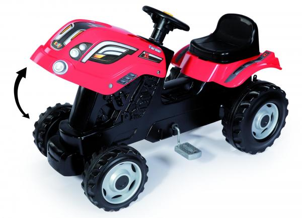 Smoby Childrens Red Farmer XL Pedal Ride On Tractor and Kids Trailer-15919
