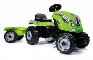 Smoby Farmer XL Green Tractor & Trailer Ride On Pedal Car-0
