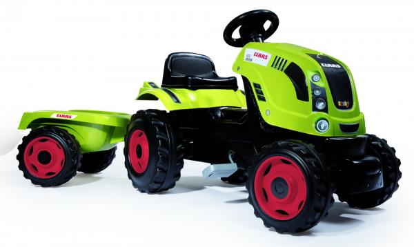 Smoby Claas Farmer XL Childrens Ride On Pedal Toy Tractor and Trailer-15887