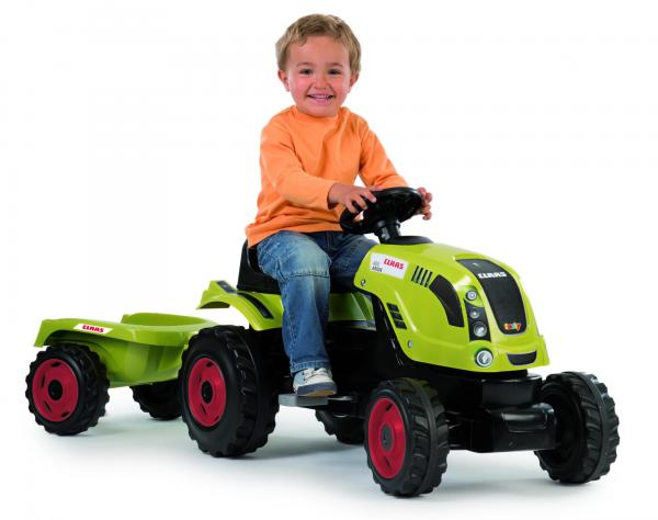 Smoby Claas Farmer XL Childrens Ride On Pedal Toy Tractor and Trailer-0