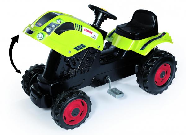 Smoby Claas Farmer XL Childrens Ride On Pedal Toy Tractor and Trailer-15886