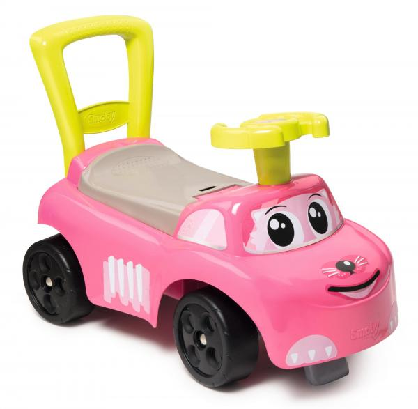 Smoby Auto Pink Ride on Push on Car-0