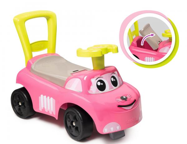 Smoby Auto Pink Ride on Push on Car-15960