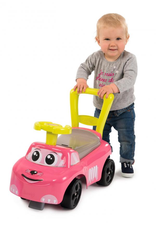 Smoby Auto Pink Ride on Push on Car-15958