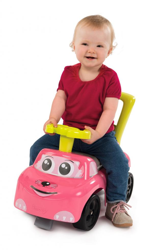 Smoby Auto Pink Ride on Push on Car-15957