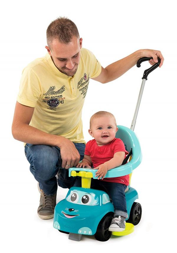 Smoby Auto Bascule 4 in 1 Ride-On - Blue-0