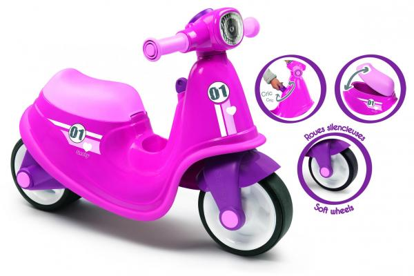 Smoby Ride On Scooter, Moped – Pink-15847