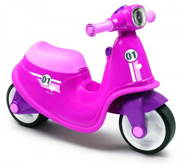 Smoby Ride On Scooter, Moped – Pink-0