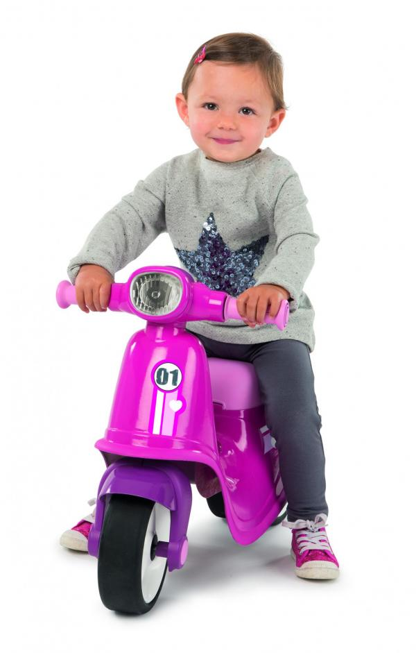 Smoby Ride On Scooter, Moped – Pink-15845