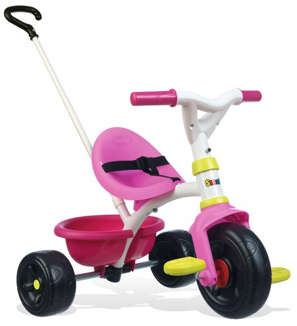 Smoby Be Fun Tricycle with Parent Handle - Pink-15876