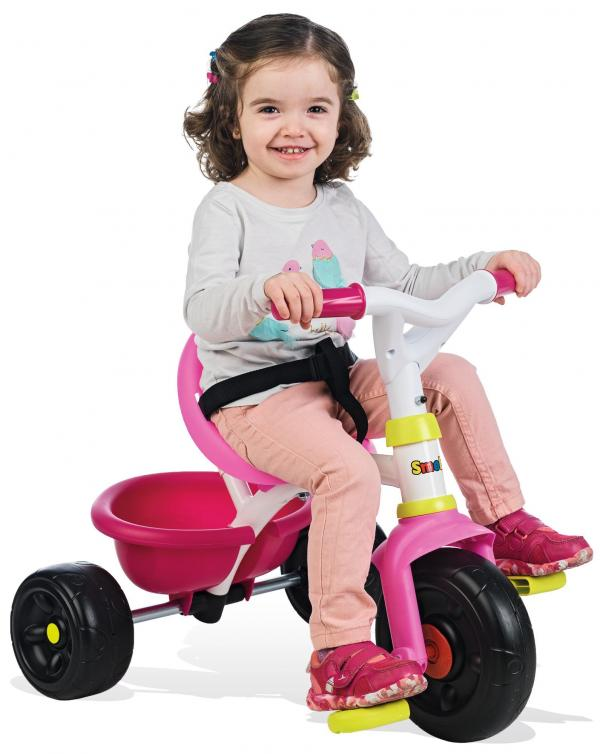 Smoby Be Fun Tricycle with Parent Handle - Pink-15875