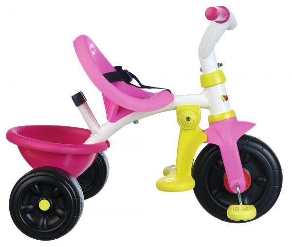 Smoby Be Fun Tricycle with Parent Handle - Pink-15878