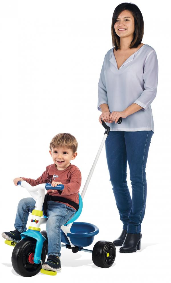 Smoby Be Fun Tricycle with Parent Handle - Blue-0