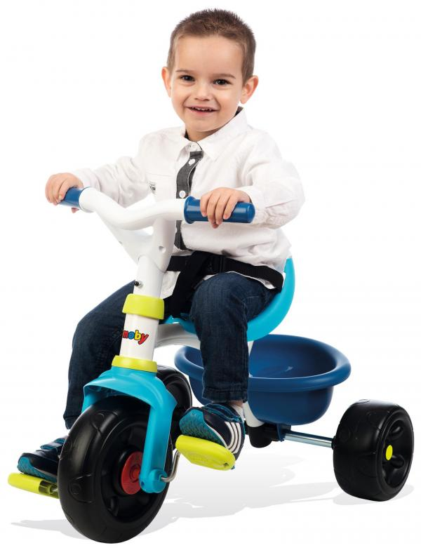 Smoby Be Fun Tricycle with Parent Handle - Blue-15868