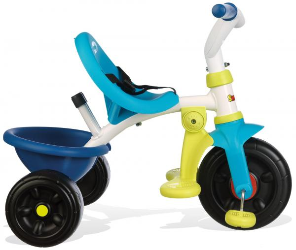 Smoby Be Fun Tricycle with Parent Handle - Blue-15869