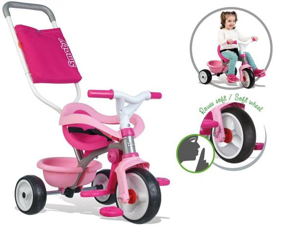 Smoby Be Move Comfort Tricycle Pink-15993
