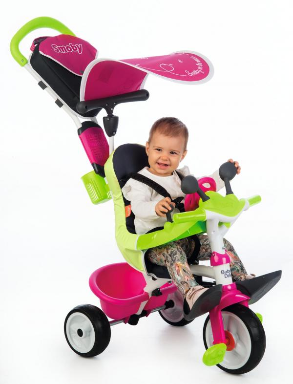 Smoby Baby Driver Confort Pink Trike-0
