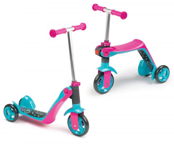 Smoby Reversible 2-in-1 Scooter – Pink-0