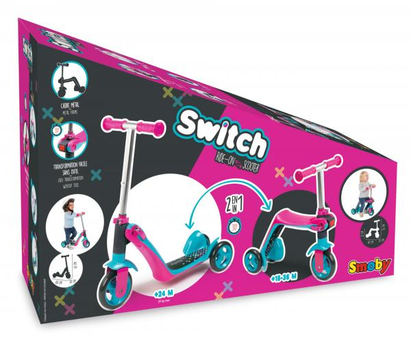 Smoby Reversible 2-in-1 Scooter – Pink-16041
