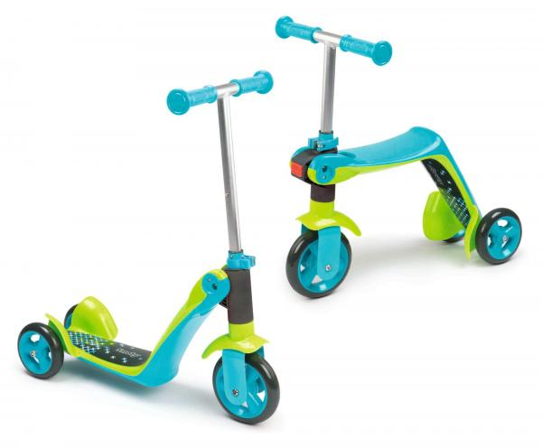 Smoby Reversible 2-in-1 Scooter - Blue-0