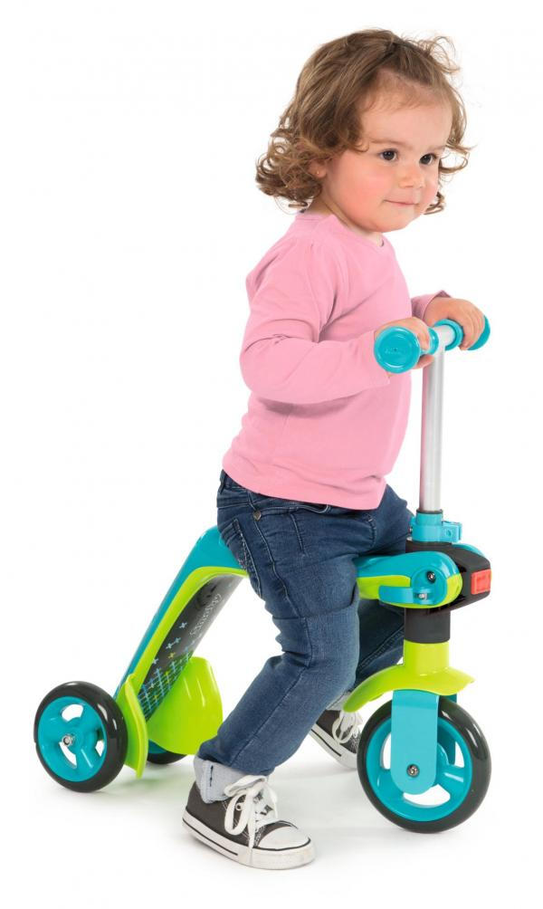 Smoby Reversible 2-in-1 Scooter - Blue-16017
