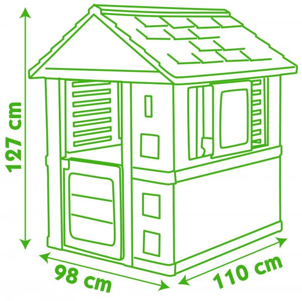 Smoby Nature Home Children's Playhouse-15778
