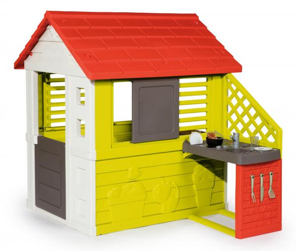 Smoby Nature Playhouse with Kitchen-15786